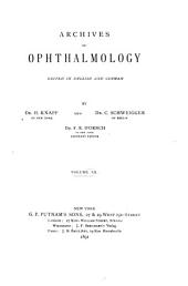 Archives of Ophthalmology: Volume 20
