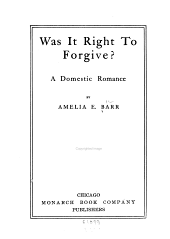 Was it Right to Forgive?: A Domestic Romance