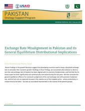 Exchange rate misalignment in Pakistan and its general equilibrium distributional implications