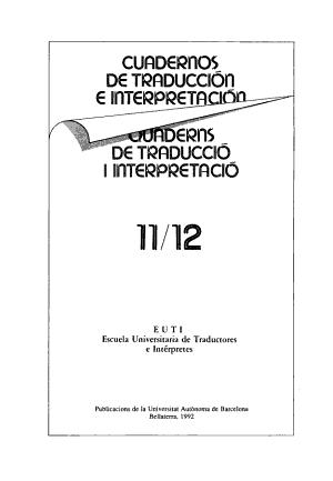 Cuadernos de traducci  n e interpretaci  n PDF
