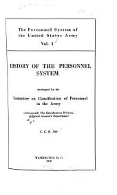 The Personnel System of the United States Army: Volume 1