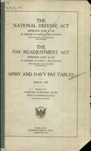 The National Defense Act Approved June 3  1916 as Amended to March 4  1929  Inclusive with Related Acts  Decisions and Opinions Book