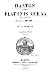 Platonis Opera: Volume 1