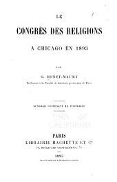 Le congrès des religions: à Chicago en 1893