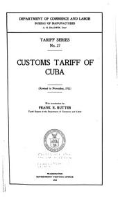 Customs Tariff of Cuba: Issues 27-34