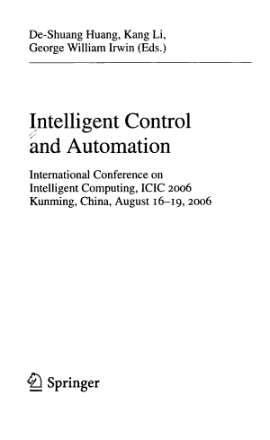 Intelligent Control and Automation PDF