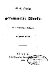 G.E. Lessing's gesammelte Werke: Band 5