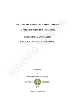 History of Soybeans and Soyfoods in North Carolina  1856 2017