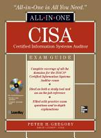 CISA Certified Information Systems Auditor All in One Exam Guide PDF