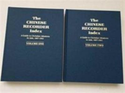 The Chinese Recorder Index PDF