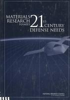 Materials Research to Meet 21st Century Defense Needs PDF