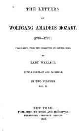 The Letters of Wolfgang Amadeus Mozart (1769-1791)