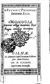 Antonii Possevini Societatis Iesv, Moscovia