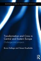 Transformation and Crisis in Central and Eastern Europe PDF