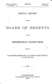 Report of the Board of Regents: Volume 1876