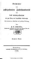 Geschichte des achtzehnten Jahrhunderts und des neunzehnten bis zum Sturz des franz  sischen Kaiserreichs PDF