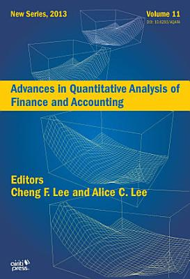 Advances in Quantitative Analysis of Finance and Accounting  New Series   2013  Vol   11
