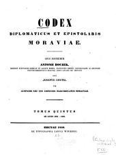 Urkunden-sammlung zur geschichte Mährens