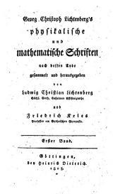 Physikalische und mathematische Schriften: 1