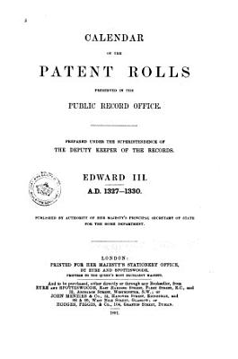 Calendar of the Patent Rolls Preserved in the Public Record Office PDF