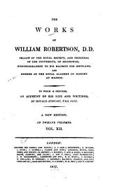 The Works of William Robertson ...: History of India