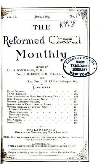 The Reformed Church Monthly PDF