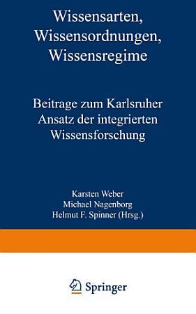 Wissensarten  Wissensordnungen  Wissensregime PDF