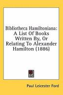 Bibliotheca Hamiltonian PDF