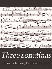 Three sonatinas: for violin and piano