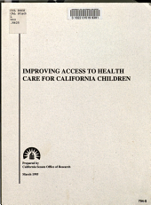 Improving Access to Health Care for California Children PDF
