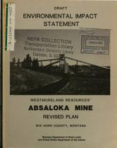Westmoreland Resources Absaloka Mine, Big Horn County, Revised Plan: Environmental Impact Statement