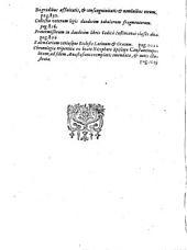 Antonii Contii ... Opera omnia qvae exstant, nvnc primvm, ex mms. auctoris, in vnum redacta ...