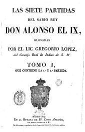 Las Siete Partidas del Sabio Don Alonso el IX, 1