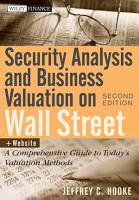 Security Analysis and Business Valuation on Wall Street PDF