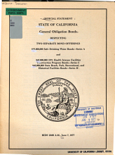 Official Statement  State of California General Obligation Bonds Respecting Two Separate Bond Offerings PDF