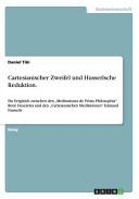 Cartesianischer Zweifel und Husserlsche Reduktion PDF