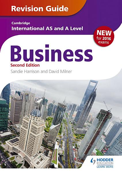 Cambridge International AS A Level Business Revision Guide 2nd edition PDF
