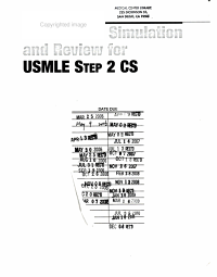 Case based Simulation and Review for USMLE Step 2 CS
