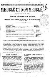 Meuble et non meuble vaudeville en un acte par MM. Dupeuty et E. Grange