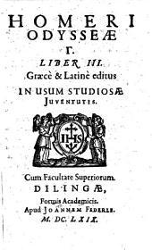 Homeri Odyssea. A B G: Graece & Latine edita, In usum Scholarum Societatis Jesu, Volume 3