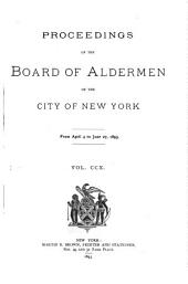 Proceedings of the Board of Aldermen: Volume 210