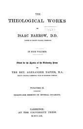 The theological works of Isaac Barrow ...