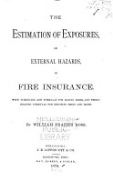 The Estimation of Exposures  Or External Hazards  in Fire Insurance PDF