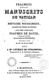 Fragments extraits des manuscrits du Vatican