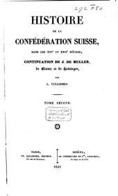 Histoire de la Confédération Suisse: Volume2