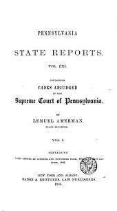 Pennsylvania State Reports: Volume 111