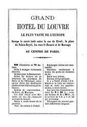 Paris, Guide pratique du voyageur