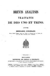 Institutiones theologiae dogmaticae specialis: Brevis Analysis Tractatus de Deo Uno et Trino, Volume 1; Volume 7