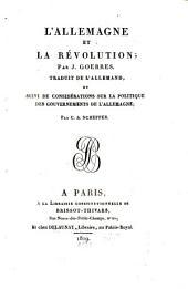 L'Allemagne et la Révolution