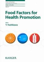 Food Factors for Health Promotion PDF